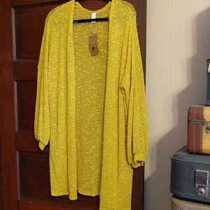 Kimono sweater goldenrod yellow